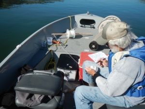 Water quality monitoring on Lake Billy Chinook, 2015. Photo by Greg McMillan.