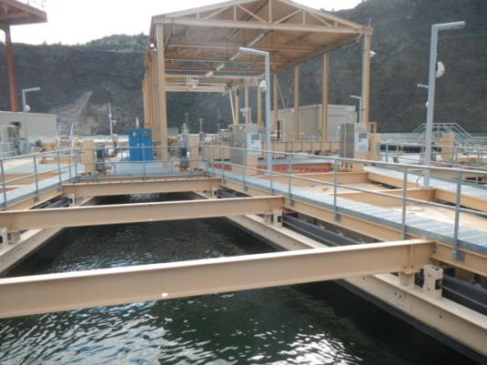 Fish capture facility at the Selective Water Withdrawal Tower. Photo by Greg McMillan.